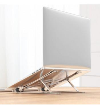 """Laptop Stand, 7-Angles Adjustable,Aluminum-Sliver, Compatible with all Tablets/Laptops 10""""-17.3"""", Supports up to (40kg)"""